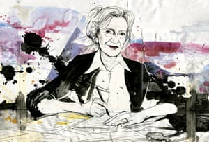 A sketch of the author Elizabeth Strout.