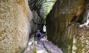 The sunken vie cave paths were made by the Etruscans.