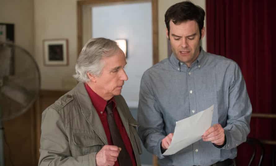 Barry (Bill Hader) with Gene (Henry Winkler).