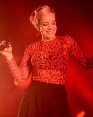 Lily Allen performing at the Dome.