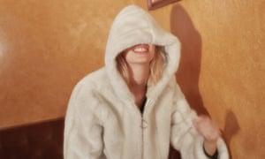 Alexa Chung's faux fur coat