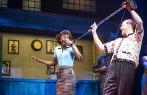 Beverley Knight and Killian Donnelly in Memphis: The Musical at the Shaftesbury theatre, London, in 2014.
