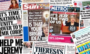 Front pages of the UK papers on Wednesday, 3 April 2019