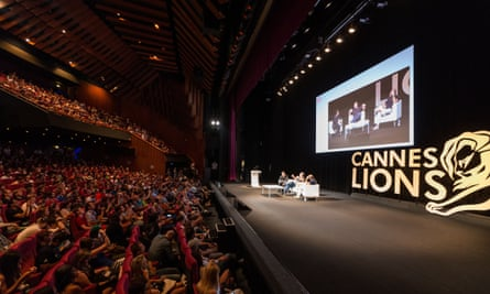 Bono, Apple executive Jonathan Ive and Vice Media CEO Shane Smith at a Cannes Lion seminar in 2014