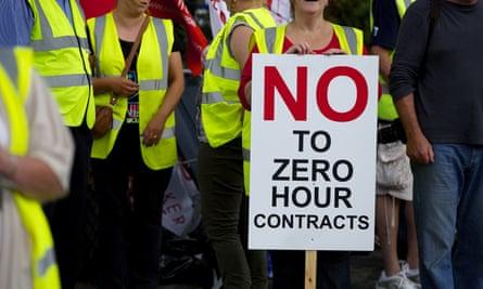 Zero-hours contracts protest