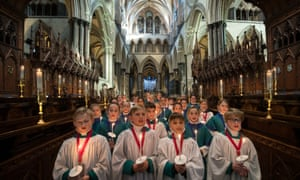 Choristers from the Salisbury Cathedral choir