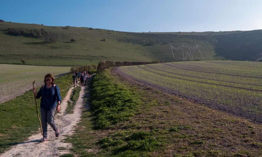 Passing the Long Man of Wilmington.