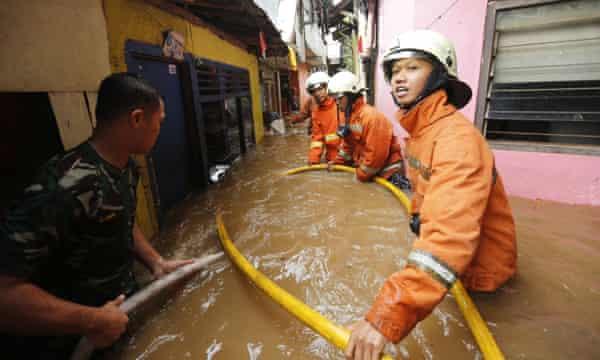 Flood response in Jakarta.