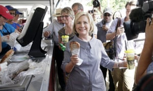 Hillary Clinton Iowa pork chop