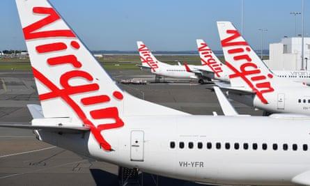 Virgin Australia aircraft parked at Sydney airport