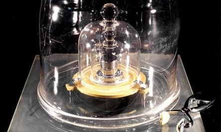 the international prototyp of the kilogram under bell jars at saint cloud paris france
