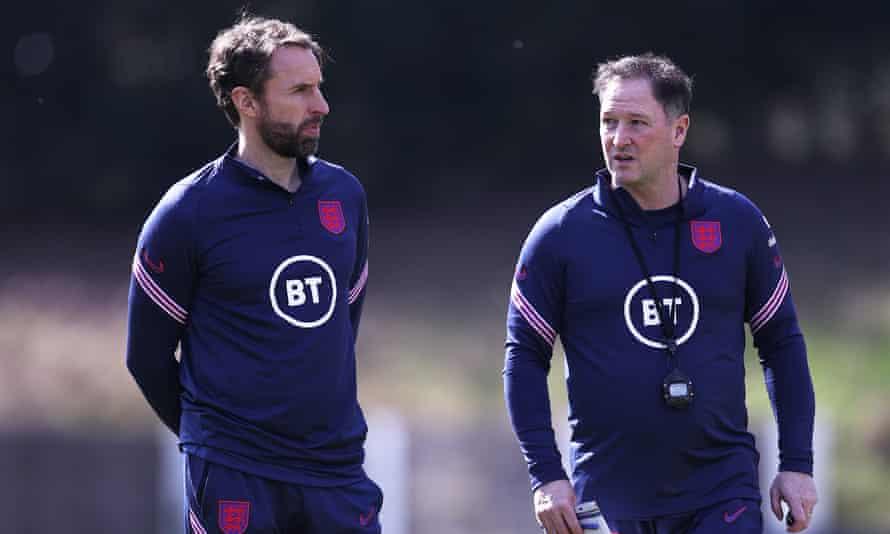 Gareth Southgate with Steve Holland