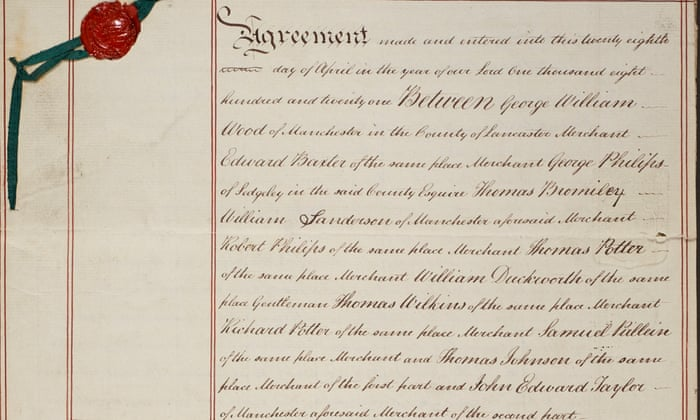 The Manchester Guardian Agreement Gnm Archive The Guardian