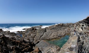 Rockpools on the coast of Fuerteventura in the Canary Islands.
