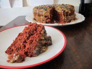 Carolyn A Knutsen's red velvet cake.