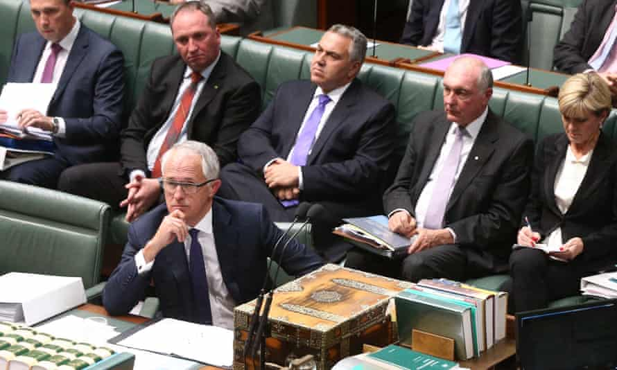 Question Time Tuesday 15/9/15 Prime minister Malcolm Turnbull and his front bench during question time in the house of representatives this afternoon. Tuesday 15th September 2015.
