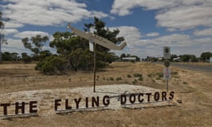 A sign reading The Flying Doctors. The TV drama The Flying Doctors was filmed in Minyip, Victoria, Australia.