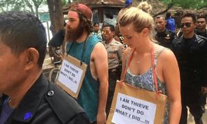 Australian couple paraded in Gili Trawangan for stealing