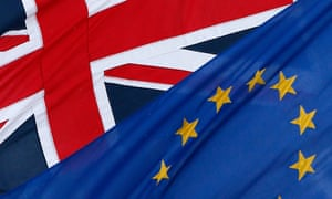 The EU and the Union flags fly outside The European Commission Representation in the United Kingdom in London