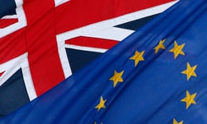 The EU and UK flags. The Electoral Commission recommends that options for voters be: 'Remain a member of the European Union' or 'Leave the European Union'.