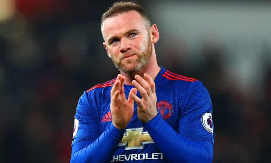 Wayne Rooney applauds the fans after breaking Bobby Charlton's Manchester United scoring record during their 1-1 draw with Stoke.
