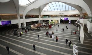 The entrance to New Street Station and the Bull Ring shopping centre in Birmingham today. It is usually crowded.