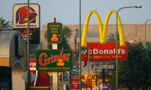 A line of fast-food restaurants in Los Angeles, US.