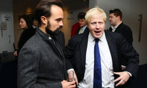 Boris Johnson and Evgeny Lebedev at the Evening Standard Theatre Awards in 2009