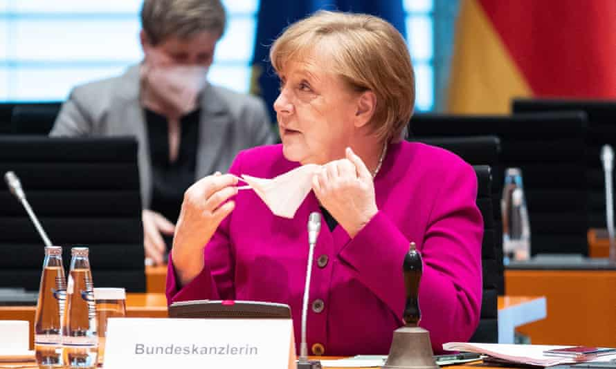Angela Merkel attends a cabinet meeting in Berlin