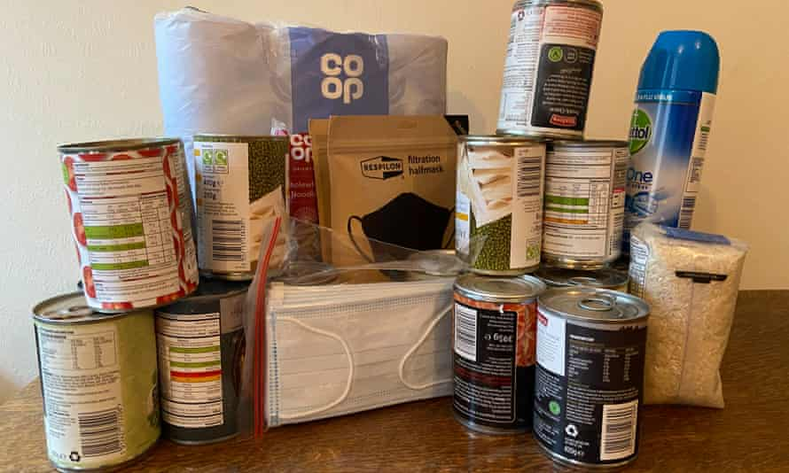 Canned food, face masks, toilet rolls and rice
