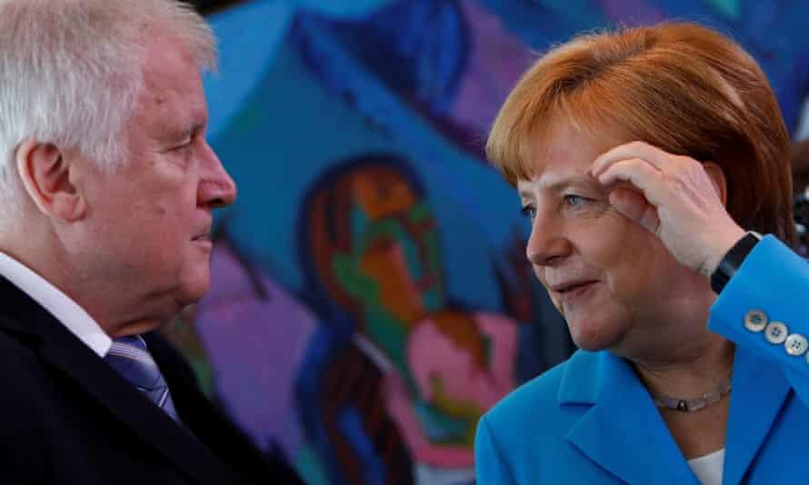 Angela Merkel with Horst Seehofer