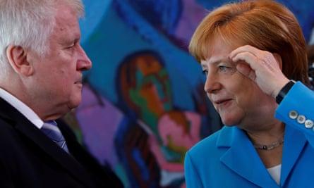 Angela Merkel and Horst Seehofer