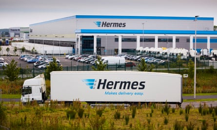 A Hermes distribution base in Cheshire