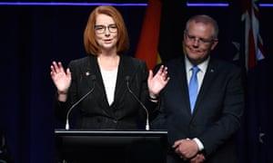 Julia Gillard and Scott Morrison