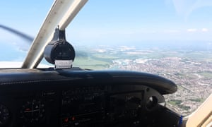 View from the cockpit in Steve Batchelor's Piper Warrior.