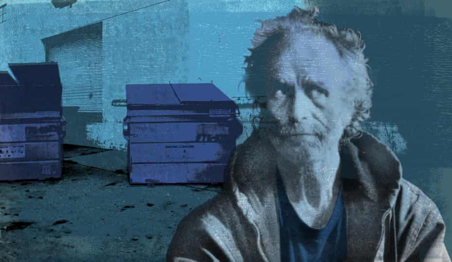 Frank Ryan and the dumpsters outside the Amazon warehouse.