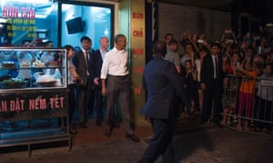 Obama has praised 'strengthening ties' between the United States and Vietnam during his trip.