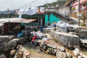 The Dhobighat community downstream of Mussoorie provides laundering services to the town's schools, hotels and government institutions.