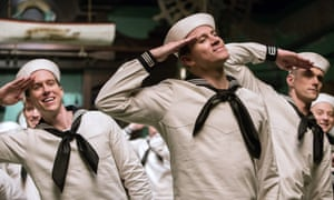 'Deliciously long takes': Channing Tatum (centre) in one of the dance numbers.
