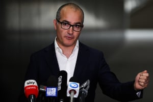 Victoria's acting premier James Merlino speaks during a press conference on Tuesday in Melbourne.
