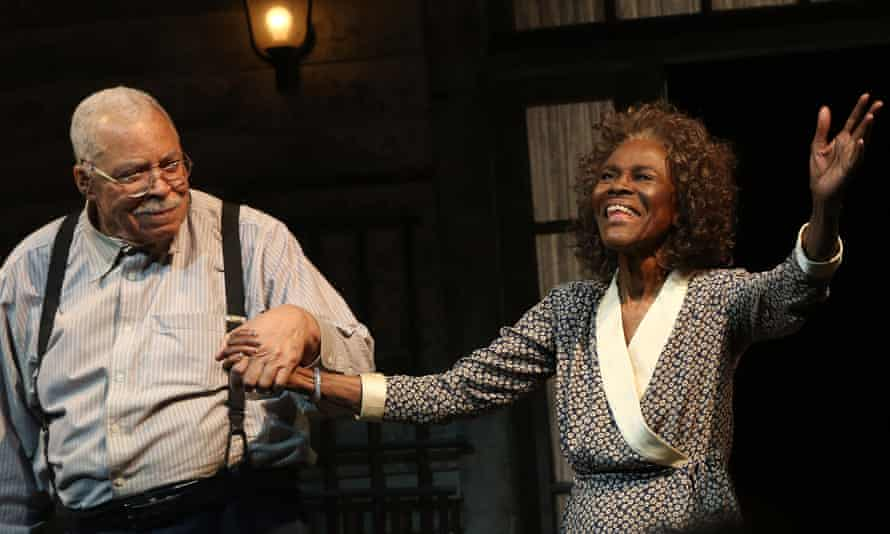 Cicely Tyson with James Earl Jones on stage for The Gin Game on Broadway, New York, 2015.
