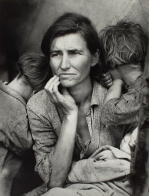 Migrant Mother, 1936 by Dorothea Lange, from the Tate Modern show The Radical Eye
