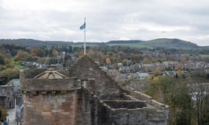 Linlithgow Palace in the town of Linlithgow, West Lothian, Scotland