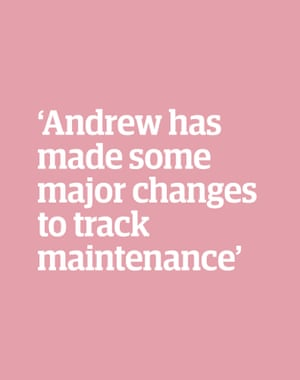 Quote: 'Andrew has made some major changes to track maintenance'