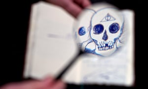 the unique copy of The Tales of Beedle the Bard created, handwritten and illustrated by JK Rowling.