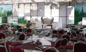 An explosion tore through a wedding hall in west Kabul, home to many of the city's minority Hazara community. More than 60 died and 180 were injured.