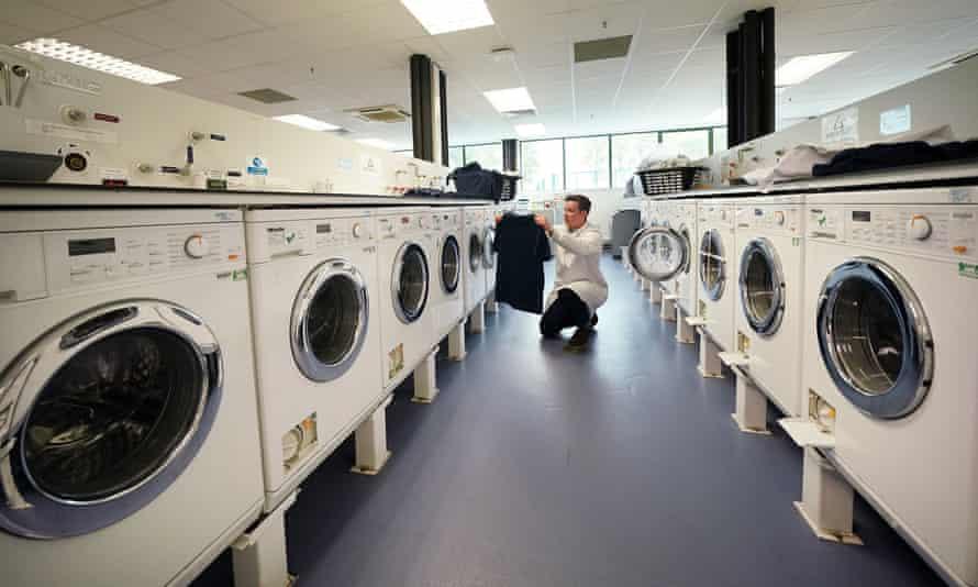 Newcastle Üniversitesi'ndeki çamaşır makineleri bankası