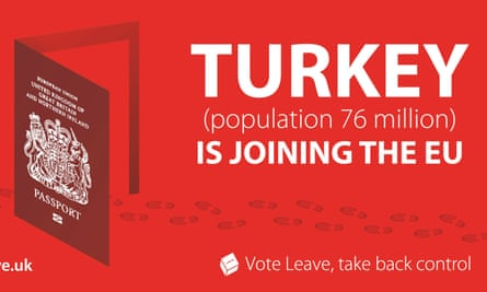 The controversial Vote Leave campaign poster.