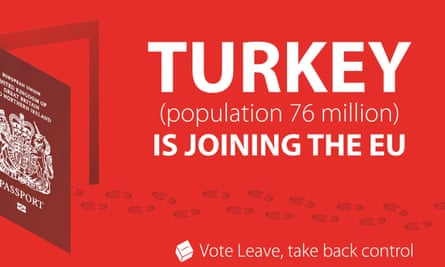 Vote Leave campaign poster about Turkey joining EU