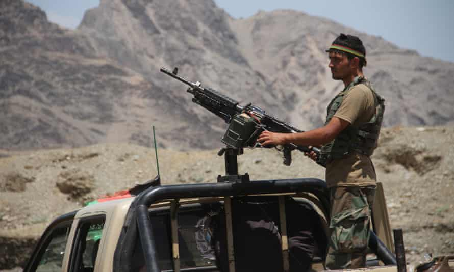 Afghan security forces in Nangarhar province.